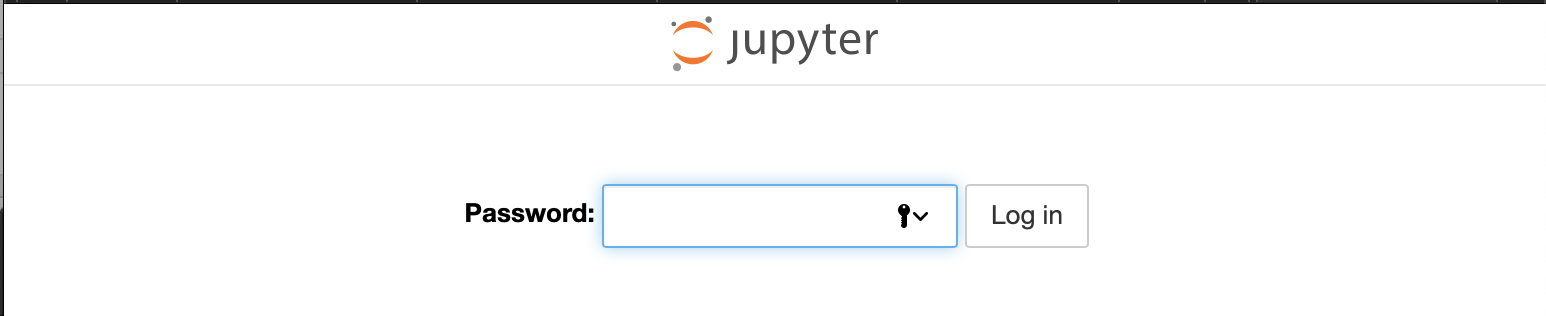 Jupyter Notebook Password Prompt